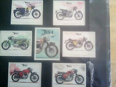 BSA motorcycle collector cards