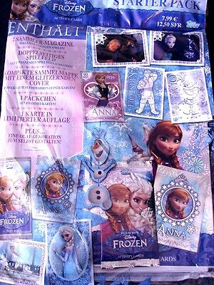 Topps Disney EISKÖNIGIN/FROZEN Activity Cards SERIE 1-Trading Cards STARTER PACK