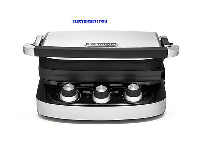 Delonghi Health Grill Chg902C - Silver, 1500W, Removable Plates