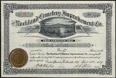 Rockland Cemetery Improvement Co., New York, $25 shares, 1889