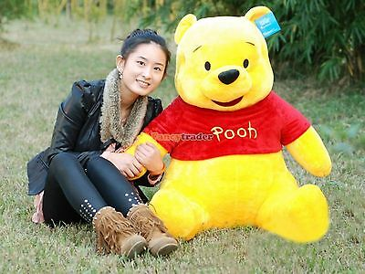 "Hot 40"" 100cm GIANT big Plush Stuffed Winnie Bear LARGE HUGE Xmas gift Free Ship"
