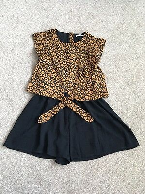 Girls M&S Short Play Suit Age 10-11 Years