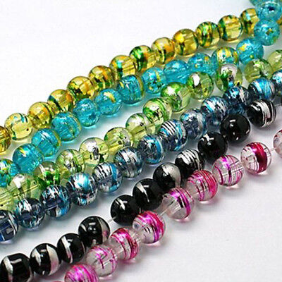 50Pcs Mixed Czech Glass Drawbench Loose Spacer Beads For Jewelry Making 6mm Gift