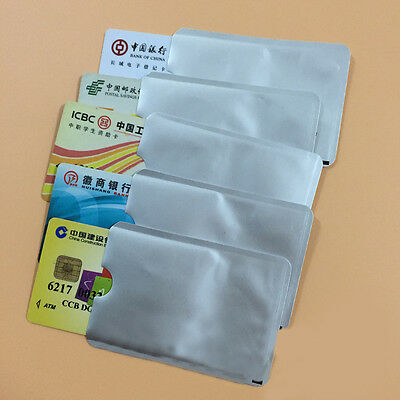 New 12Pcs RFID Blocking Card Protector Paypass Contactless Card Holder Case Skin