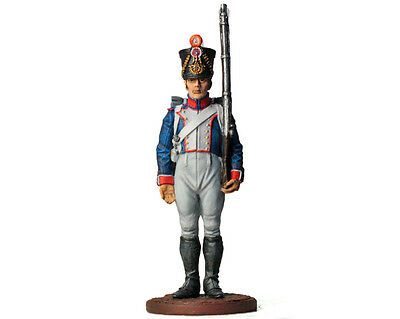 Tin Soldier - French Fusilier, Napoleonic Wars, painted pewter figurine 54 mm