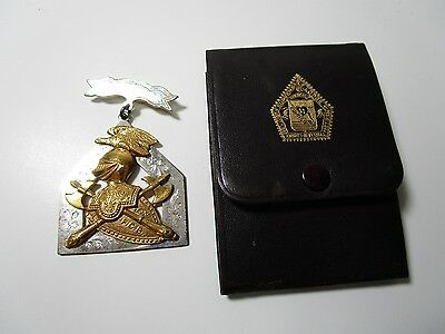 Supreme Lodge Knights of Pythias Friendship Badge With Case