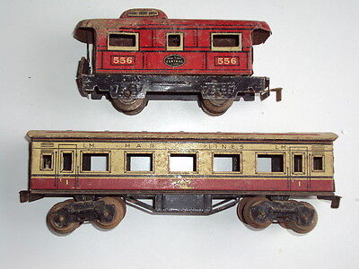 Mars vintage tin plate coach and guards van