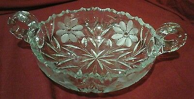 Antique American Brilliance ABP CUT CRYSTAL Double Handle Bowl