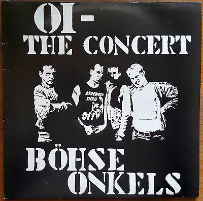 LP: Böhse Onkels - Oi, The Concert (white vinyl). 100 copies only (VG+/NM)