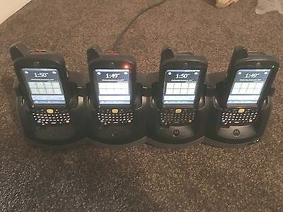 4 Motorola MC65 PDA Barcode Scanner + 4 Gang Motorola Charger **VERY GOOD**