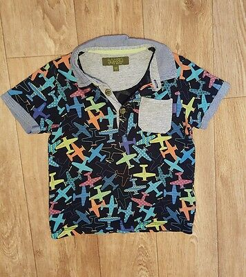 Boys Ted Baker polo shirt top age 2-3 years