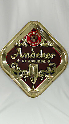Pabst Andeker Diamond Shaped Beer Signs X2