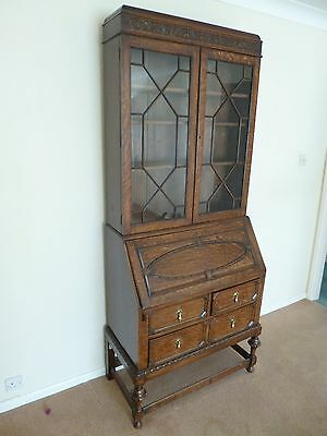*** ANTIQUE VINTAGE *** -  Writing Beauro & Bookcase ***