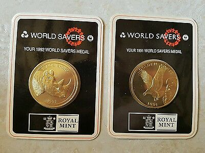 Natwest World Savers 1992 Medal Coins
