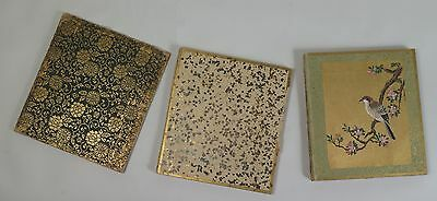 Japanese folding book hand painted silk panels Ori-hon