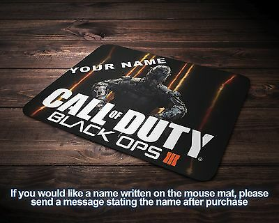 Call Of Duty Black Ops 3 Computer Laptop Mouse Mat Personalised FREE P&P