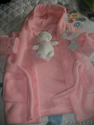 Early Days Baby girls dressing gown with soft toy  age 12-18 months New with Tag