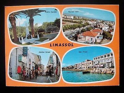 CYPRUS POSTCARD LIMASSOL  by Triarchos 1984 posted