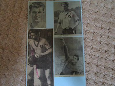 4 Norwich City Signed Pictures 1950's