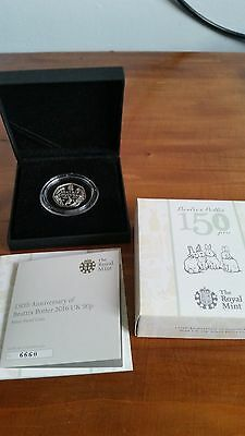 150th Anniversary Beatrix Potter 2016 UK 50p Silver Proof Royal Mint Coin Rare