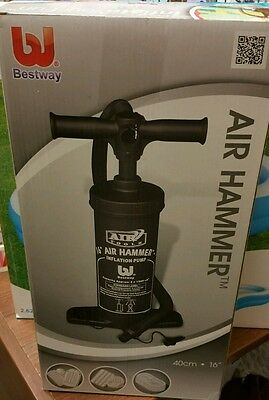 "16"" Bestway Air Hammer Inflate Blow Up Inflation Hand Pump Airbed Boat Camping"