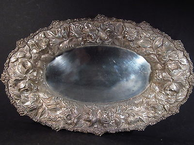 "Sterling Stieff  STIEFF ROSE  BREAD TRAY 12 3/4"" NM #201a"