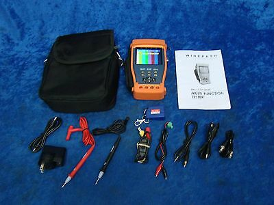 """Wirepath Surveillance Multi-Function CCTV Tester Kit w/ 3.5"""" Color LCD Display"""