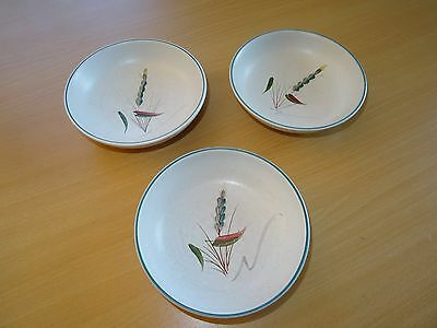 3 x DENBY Greenwheat Cereal Bowls