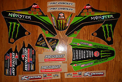 TEAM MONSTER PRO CIRCUIT KX250F GRAPHICS KIT ( 2009 to 2012 )  N40-3742