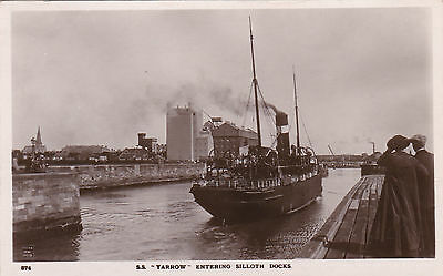 "S.s."" Yarrow"" Entering Silloth Docks.  Early Real Photo Postcard"
