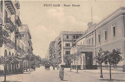 Cpa Egypte Port Said Main Street