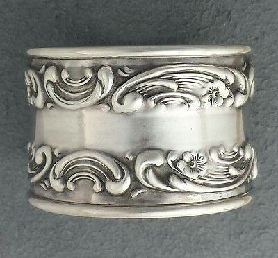 NO MONO Sterling silver MELROSE by GORHAM Napkin Ring, #1232, art nouveau holder