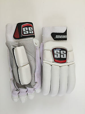 SS TON Player Issue Cricket Batting Gloves Special Edition All White