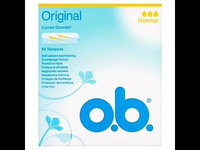 o.b. tampons normal 2 packs (112 tampons)