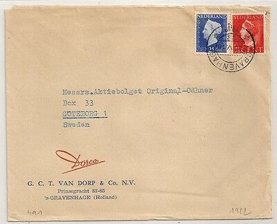 Cover Pays Bas Netherlands Gravenhage To Sweden. 1922. L491.
