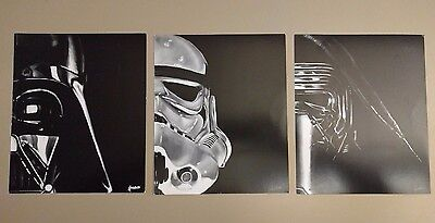 Lee Howard Star Wars Prints Set of 3 - Kylo Ren Vader Stormtrooper Nerd Block