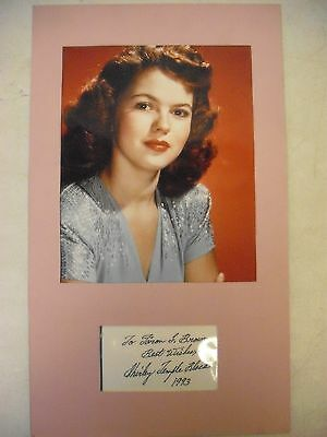 """Shirley Temple Black Color Photo with Signature Size: 10"""" x 17"""""""