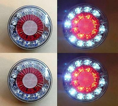4x LED 24V REAR TAIL SIDE LIGHTS FOR TRUCK LORRY CHASSIS TRAILER MAN DAF SCANIA