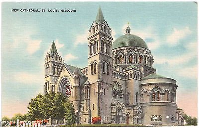 AK US USA Post Card New Cathedral St. Louis ungelaufen 1947