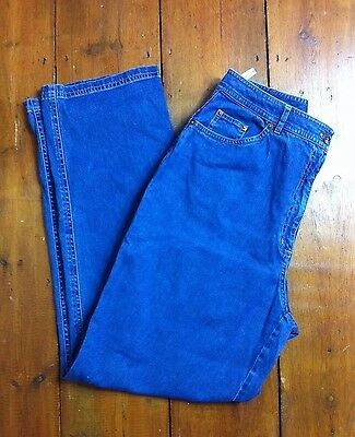 Vintage 90s Viyella High Waisted Relaxed Wide Tapered Boyfriend Mom Jeans 12