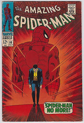 Amazing Spider-Man #50 G+ 2.5 First Appearance Of The Kingpin John Romita Art!