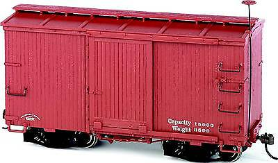 Bachmann On30 18 ft. Box Car W/ Murphy Roof Oxide Red, Data Only 2 per box 26552