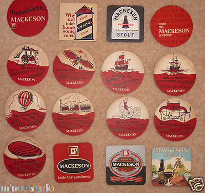Collection of Vintage Mackeson Beer Mats -1975-1985.