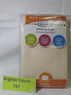 Graco Pack N Play changing table pad 2 pack