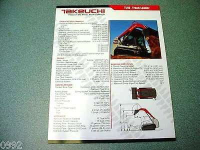 Takeuchi TL10 Track Loader Brochure