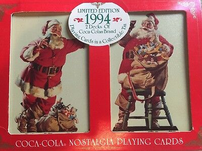 Collectible Limited Edition 1994 2 Decks  Coca Cola  Playing Cards