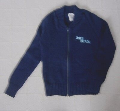 "Vintage Ladybird Zip-up Cardigan - Age 6 - Navy ""Space Patrol"" - Acrylic - New"