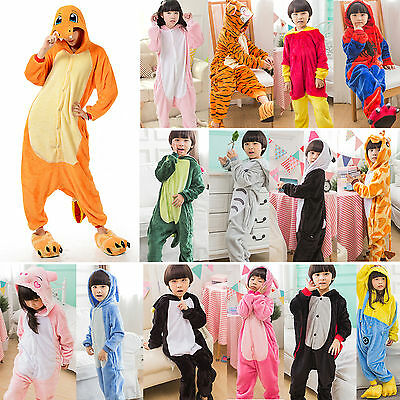Kids Baby Pajamas Romper Kigurumi Onesie Cosplay Costume Cute Animal Paw Shoes