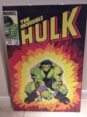 The Incredible Hulk #307 Limited Edition Canvas Signed By Stan Lee