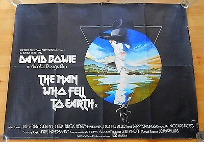 Authentic DAVID BOWIE Man Who Fell To Earth Quad Poster National Screen Service